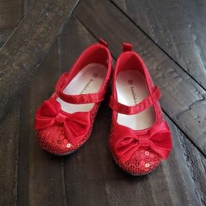 Size 4 Ruby Red Slippers (baby/toddler)